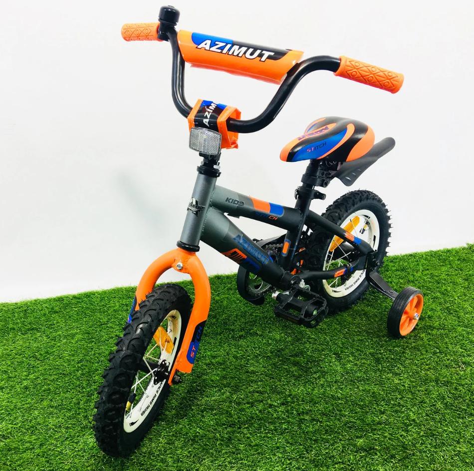 Дитячий двоколісний велосипед 14 дюймів Azimut Stitch А помаранчевий