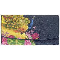 Женский кошелёк из натуральной кожи ската