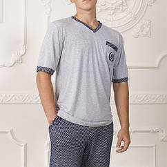 Комплект: футболка шорти Комільфо Vladimir L Сірий (4068)