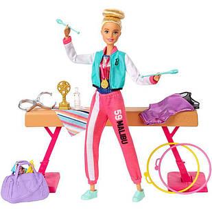 Ігровий набір лялька Барбі Гімнастка Sport&Malibu Barbie Gymnast Playset