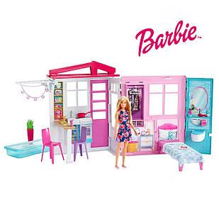 Ляльковий будиночок для Барбі портативний Barbie Doll House Playset ігровий набір