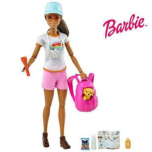 Лялька Барбі Активний відпочинок з цуценям Barbie Doll Hiking ігровий набір