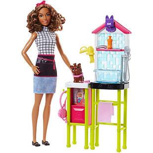 Лялька Barbie салон для вихованців Барбі Mattel Pet Groomer ігровий набір