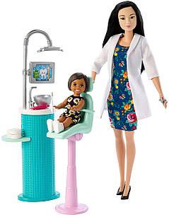 Ігровий набір лялька Барбі стоматолог азіатка Barbie Dentist Doll Playset Black Hair