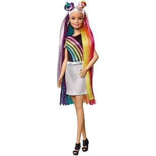 Лялька Барбі Райдужне сяйво волосся Barbie Rainbow Sparkle Hair Doll ігровий набір