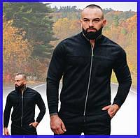Стильный бомбер мужской замшевый на молнии черный, короткая куртка демисезонная Asos Турция
