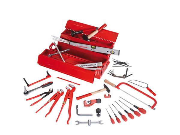 Набор инструмента из 50 предметов в металлическом ящике  ROTHENBERGER