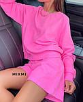 Жіночий костюм, турецька двунить, р-р 42-44; 44-46 (рожевий), фото 2