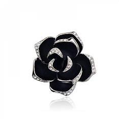 """Жіноча брошка """"Чорний квітка троянда"""""""