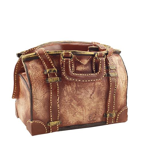 Кашпо Decoline Шкіряна сумка (гіпс) K0743(G)