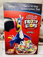 Сухой завтрак Kellogg's Froot Loops цветные фруктовые колечки