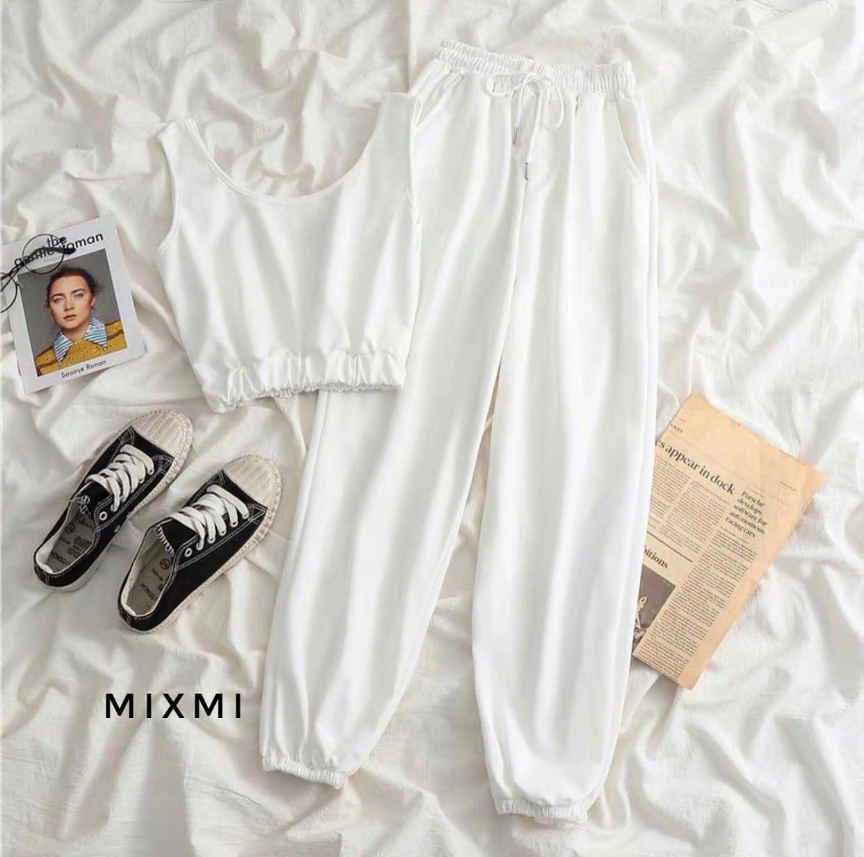 Жіночий спортивний костюм, турецька двунить, р-р 42-44; 44-46 (білий)