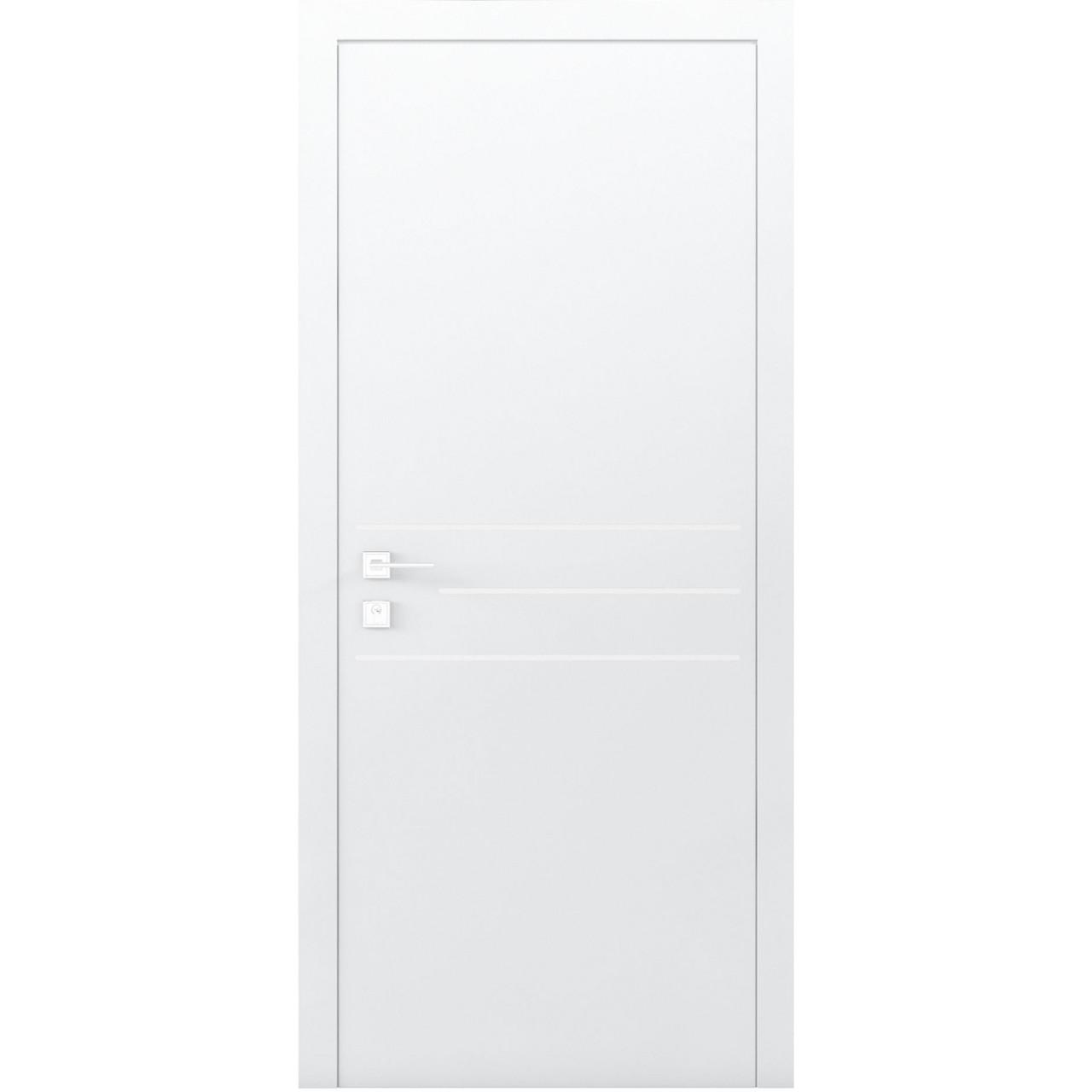 Міжкімнатні двері Rodos Кортес Prima 3G Глуха біла (полотно)