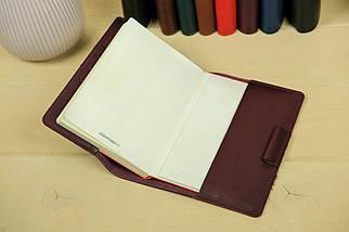 """Обкладинка для блокнот А5 """"Модель № 1"""", Шкіра Італійський краст, колір Бордо, фото 3"""