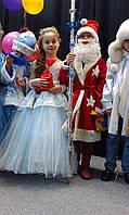 Шикарный костюм снегурочки VIP. Детский костюм снегурочка прокат Киев