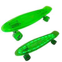 Пенни борд 850 Best Board cветящаяся дека Зеленый