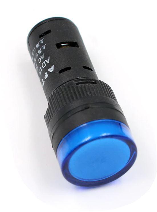 Светодиодный индикатор AD16-16DS 240v АC/DC синий