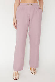 Женские летние прямые брюки на резинке Большой размер 50 52 58 60