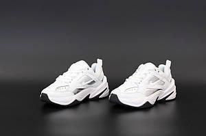Женские кроссовки Nike M2K Tekno Full White \ Найк М2К Белые \ Жіночі кросівки Найк М2К Білі