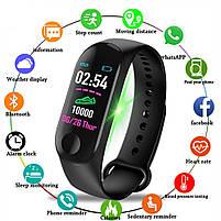 Фітнес трекер Smart Band M3, фітнес браслет браслет здоров'я, фото 4