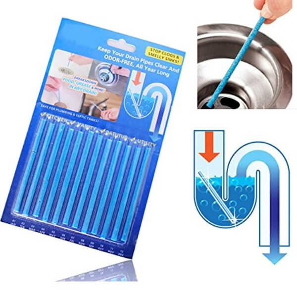 Палички від засмічень SANI STICKS 12 шт. для кухні та ванної кімнати