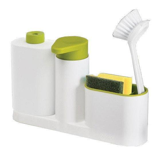 Органайзер для кухни Sink Tidy Sey Plus с дозатором для моющего средства или жидкого мыла, диспенсер для мыла