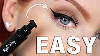 Двостороння підводка штамп Snail Girl Eyeliner для ідеальної стрілки, штамп стрілки, олівець для гла, фото 4