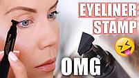 Двостороння підводка штамп Snail Girl Eyeliner для ідеальної стрілки, штамп стрілки, олівець для гла, фото 5