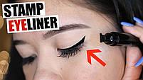 Двостороння підводка штамп Snail Girl Eyeliner для ідеальної стрілки, штамп стрілки, олівець для гла, фото 6
