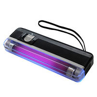 Детектор валют Kronos DL01 портативный на батарейках, ультрафиолетовый детектор купюр, сканер денег , фото 2