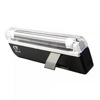 Детектор валют Kronos DL01 портативный на батарейках, ультрафиолетовый детектор купюр, сканер денег , фото 4