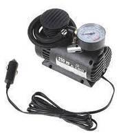 Компрессор для подкачки колес автомобильный Air Compressor 250 psi с манометром + набор иголок, насос 12V, фото 2
