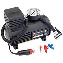 Компрессор для подкачки колес автомобильный Air Compressor 250 psi с манометром + набор иголок, насос 12V, фото 3