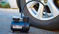 Компрессор для подкачки колес автомобильный Air Compressor 250 psi с манометром + набор иголок, насос 12V, фото 5