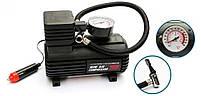 Компрессор для подкачки колес автомобильный Air Compressor 250 psi с манометром + набор иголок, насос 12V, фото 7