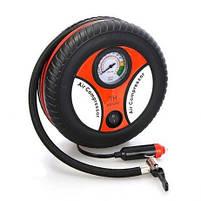 Компрессор для подкачки колес автомобильный КОЛЕСО Air Pump 250 psi с манометром + набор иголок, насос 12V, фото 2