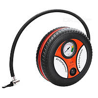 Компрессор для подкачки колес автомобильный КОЛЕСО Air Pump 250 psi с манометром + набор иголок, насос 12V, фото 3