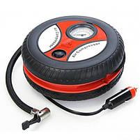 Компрессор для подкачки колес автомобильный КОЛЕСО Air Pump 250 psi с манометром + набор иголок, насос 12V, фото 4