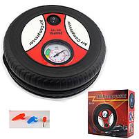 Компрессор для подкачки колес автомобильный КОЛЕСО Air Pump 250 psi с манометром + набор иголок, насос 12V, фото 5