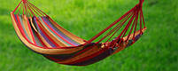 Мексиканський гамак 200 см на 80 см без планки до 150 кг 100% бавовна, підвісний гамак, фото 7