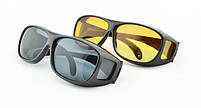 Окуляри для водіїв антифари HD Vision 2шт (жовті, чорні), антиблікові окуляри, полар плюс, фото 5