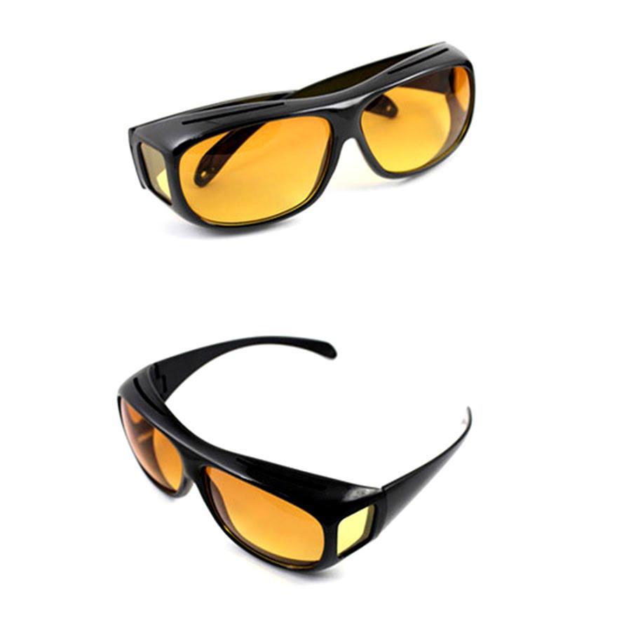 Окуляри для водіїв антифари HD Vision 2шт (жовті, чорні), антиблікові окуляри, полар плюс