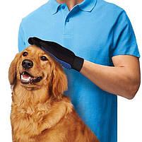 Рукавичка для вичісування шерсті True Touch домашніх тварин, рукавичка для чищення тварин, фурминатор,, фото 3