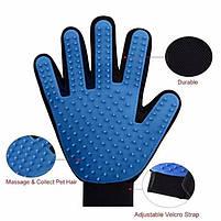 Рукавичка для вичісування шерсті True Touch домашніх тварин, рукавичка для чищення тварин, фурминатор,, фото 4