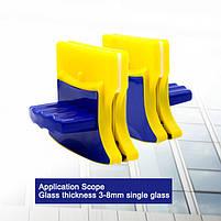 Магнітна щітка для миття вікон з двох сторін Glass Wiper Window Wizard, щітка для вікон, миття вікон, фото 4