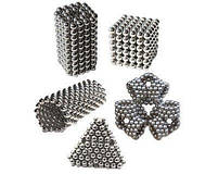 Неокуб Магнітний конструктор Neocube (срібло) 5 мм, інтерактивна іграшка, нео куб, магнітні кульки, неодим, фото 3