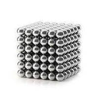 Неокуб Магнітний конструктор Neocube (срібло) 5 мм, інтерактивна іграшка, нео куб, магнітні кульки, неодим, фото 4
