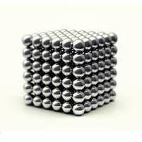 Неокуб Магнітний конструктор Neocube (срібло) 5 мм, інтерактивна іграшка, нео куб, магнітні кульки, неодим, фото 5