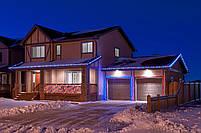 Вулична гірлянда дюралайт 20м. RGB трижильний, круглий (Мультиколір), Гірлянда для прикраси будинку + адаптер, фото 7