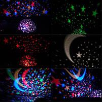 Круглий обертовий нічник-проектор зоряне небо 3D Star Master Dream, нічник старий майстер, нічник куля, фото 5